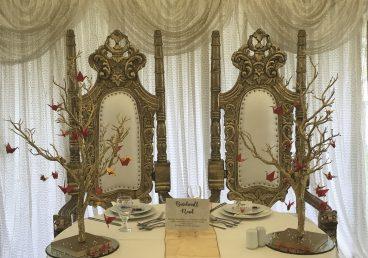 Royal Bride & Groom Throne Chairs