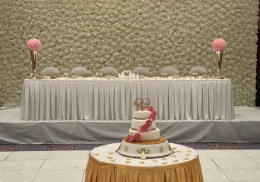 Flower Wall Head Table Backdrop